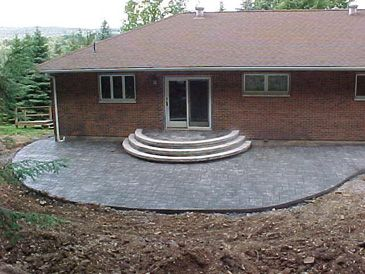 Stamped Concrete Patio And Steps Moscow Pa